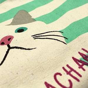 フレンズヒル マリンターチャン ミニトート グリーン ターチャン 猫 ネコ 白猫