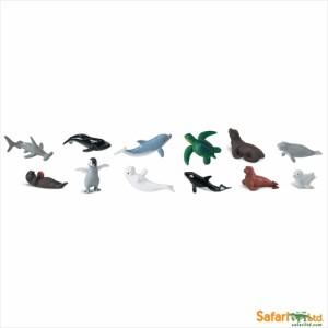 TST safari (サファリ) ベビーシーライフ チューブ かいようせいぶつ 海洋生物 フィギュア おもちゃ セット 680704