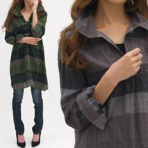 シャツ ワンピ レディース ナチュラルで快適スタイル Wコットンガーゼワンピース op10-0067 大きいサイズ メール便対応可