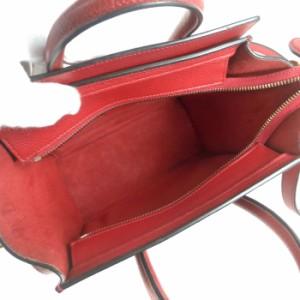 美品 セリーヌ【CELINE】 ラゲージ ナノショッパー 2way ショルダー ハンド トート バッグ 16824