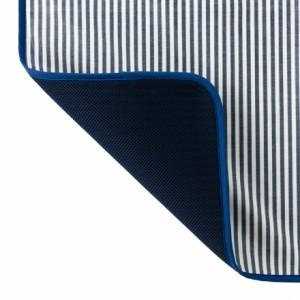 おむつ替えマット ベーシックストライプ(綿100%)・紺 日本製 B0804800