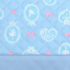 レッスンバッグ キルティング バレリーナインミラー(ライトブルー) N0235100 手提げかばん/絵本バッグ/おけいこバッグ/幼稚園