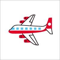 お名前シール(my目じるし 撥水 96ピース) 飛行機・ホワイト 日本製 N6406602