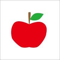 お名前シール(my目じるし 撥水 134ピース) アップル 日本製 N6408203