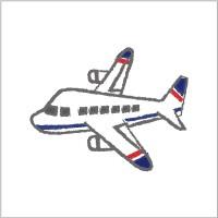 お名前シール(my目じるし 撥水 134ピース) ジェット機・ホワイト 日本製 N6438303
