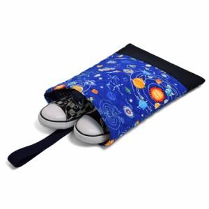 シューズケース キルティング  太陽系惑星とコスモプラネタリウム(ロイヤルブルー) N3240000 上履き入れ/シューズバッグ/シューズ袋/キ