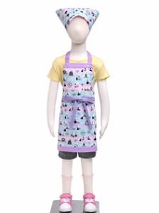 子どもエプロン(100〜120cm)  午前0時のシンデレラストーリー N1245340 子供用エプロン/キッズエプロン/三角巾/調理実習/家庭科