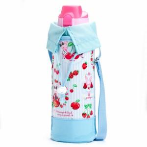 水筒カバー ラージタイプ うさちゃんのスウィートベリーガーデン N7315510 ボトルポーチ/水筒ケース/アウトドア/運動会