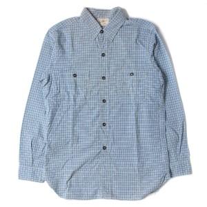 JOE McCOY(ジョーマッコイ) チェックワークシャツ ブルー S 【K1648】