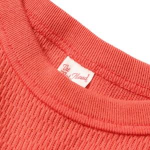 FLAT HEAD(フラットヘッド) サーマルロングスリーブTシャツ サーモンピンク 40 【K1091】