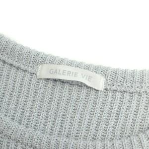 GALERIE VIE(ギャルリー ヴィー) 17S/S バルキー コットン クルーネック プルオーバー ニット S 美品 【K1585】【レディース】