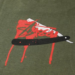 STUSSY (ステューシー) UK限定 スカルグラフィックTシャツ オリーブ S 【K1594】【新品】