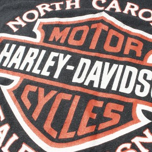 HARLEY-DAVIDSON (ハーレーダビッドソン) 80's プリントTシャツ ブラック 【K1626】