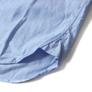 NEIGHBORHOOD (ネイバーフッド) ピンドットコットンBDシャツ(CLASSIC.WHITE.BD / C-SHIRT.LS) ブルー S 【K1754】【中古】