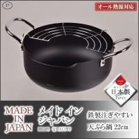 パール金属 HB-1891 メイドインジャパン 鉄製注ぎやすい天ぷら鍋22cm
