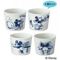 送料無料 Disneyディズニー D-MF05 ハンドドローイング おーちょこ 4個セット 23736-5