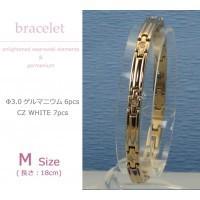 送料無料 MARE(マーレ) スワロフスキー&ゲルマニウムブレスレット PG/IP ミラー 137M 18cm H9300-09M