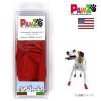 送料無料 正規輸入品 アメリカ Pawz Dog Boots社製 ポウズ ラバー・ドッグ・ブーツ SMALL レッド PZ2