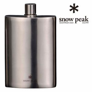 スノーピーク スキットル snowpeak T-012 チタンスキットル(M) シンセティックレザーケース付 ウイスキー/アルコール