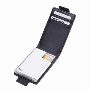 【送料無料】【2018年春の新商品】【ドイツ・TROIKA】カードケース、ブラック&シルバー