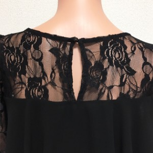 パーティードレス パンツドレス パンツスタイル セットアップ シフォン レース 花柄 フレア袖 半袖 大きいサイズ