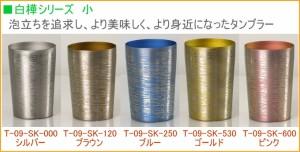 国産純チタン製 二重タンブラー プレミアム 白樺 小 270ml 1個入り (T-09-SK) 日本製 送料無料