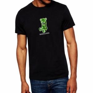 メール便 送料無料 7MILE OCEAN メンズ 半袖 Tシャツ プリント 人気ブランド ロゴ アメカジ ストリート マリファナ ベア カンナビス 白