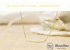 地金ネックレス つや消しマットが大人の雰囲気 キラキラ宝石店 BlueStar