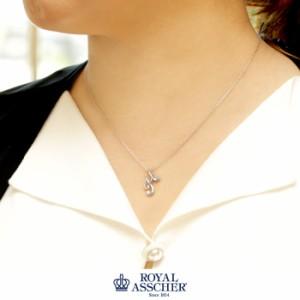 【JPA0248HB】イニシャル1粒ダイヤシリーズ『イニシャル H 』ロイヤルアッシャーダイヤモンド 代官山BlueStar