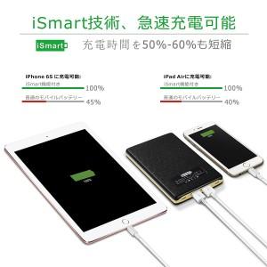 VIVIS 20000mAh モバイルバッテリー 2入力ポート 合計4A 2出力ポート合計5A 急速充電可能 iSmart機能搭載 高品質リチウムポリマー電池 ブ