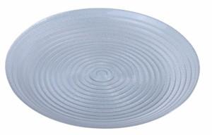 【手作りガラス】 うずまきプレート 中 【食洗機対応】おしゃれ オシャレ 色ガラス プレート トレー ランチョンマット QD-197