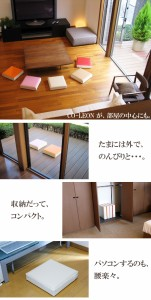 上質な日本製 クッション 「CO-LEON」【おしゃれ 椅子 シートクッション 腰痛対策 座布団 正方形】【送料無料 プレゼント ギフト プチギ