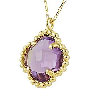 アメジスト ネックレス ペンダント  紫水晶 K18YG ゴールド 2月誕生石 イエローゴールド【送料無料】