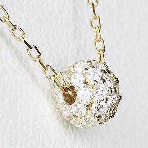 ダイヤモンド ペンダント ダイヤモンド 0.21ct ゴールド K18 ダイヤネックレス チェーン付 ボール型 送料無料