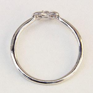リング ダイヤモンドリング ピンキーリング リボンモチーフ プラチナ PT900 指輪 ダイヤモンド 0.03ct 4月誕生石 【送料無料】