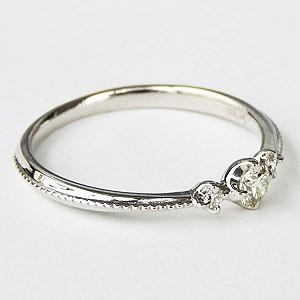 ダイヤモンドリング エンゲージリング ダイヤモンド0.15ct ダイヤモンド指輪 ダイヤ スリーストーン ホワイトゴールド K18WG 送料無料