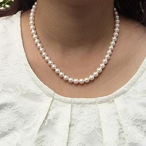 真珠パール 6月誕生石 アコヤ本真珠ネックレス 7.0mm-7.5mm あこや本真珠 全長42.5cm
