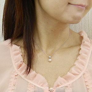 ペンダント あこや真珠パール ホワイトゴールドネックレス ダイヤモンド ジュエリー