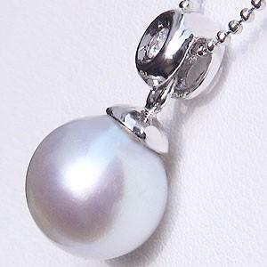真珠 パール ペンダントトップ 南洋真珠 10mm プラチナ PT900