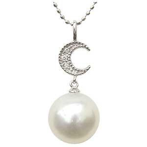ネックレスペンダント 南洋真珠パール ホワイトゴールド ネックレス ダイヤモンド ジュエリー