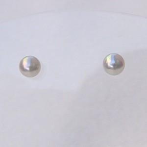 アコヤ本真珠 パール ピアス 4mm-4.5mm K14WG ホワイトゴールド