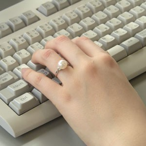 アコヤ本真珠 リング ダイヤモンド パール ピンクホワイト系 9mm PT900 プラチナ 指輪