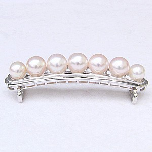 真珠 帯留め パール あこや本真珠 シルバー SV 和装小物 着物アクセサリー