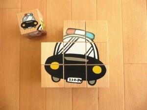 プレイミーPlayMeToys のりものパズル 6種の乗り物柄 PLAYME のりものパズル 知育玩具 木製 木のおもちゃ