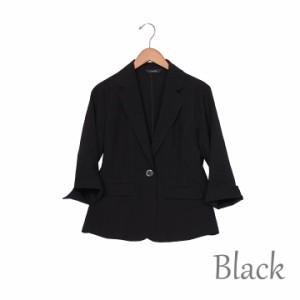 麻調 ジャケット レディース 夏 テーラードジャケット黒 カーキ オフィス 通勤 軽い涼しいサマージャケット薄手フォーマル七分袖ビジネス