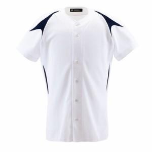 デサント(DESCENTE) ユニフォームシャツ カラーコンビネーションシャツ(フルオープン) DB-1013 DB1013 SWNV (メンズ)