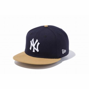 ニューエラ(NEW ERA) 9FIFTY ニューヨーク・ヤンキース ネイビー × ホワイト ウィートバイザー 11308465