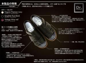 (医学博士開発・一般家庭から医療現場で活躍) Dr.HaKIMONO(ドクターハキモノ) 室内用サポートシューズ JJ-01 (ユニセックス)