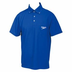 Speedo(スピード) ポロシャツブルー(ユニセックス) ( SD14S01-BL )