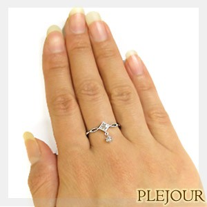 【送料無料】エンゲージリング・ダイヤモンド・リング・アンティーク調・リング・18金・婚約指輪